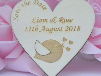 Heart Shaped Wedding Save The Date Magnets