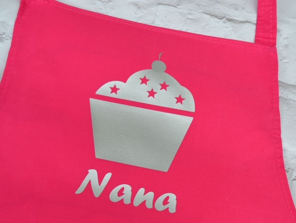 Personalised Apron With Cupcake Design