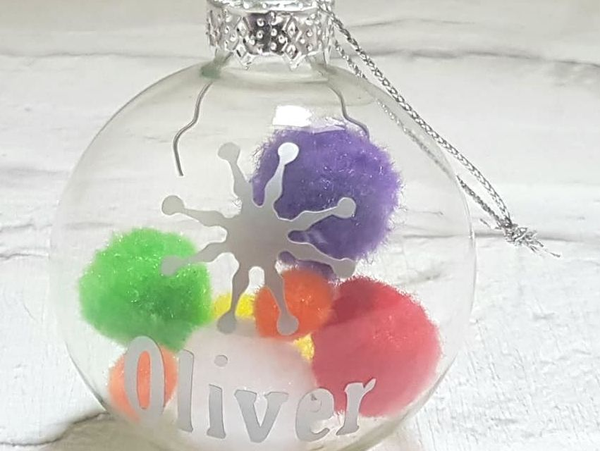 Pom Pom Personalised Christmas Bauble