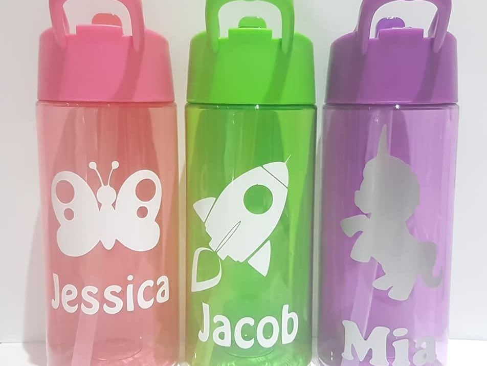 Personalised Water Bottles & Lunch Bags
