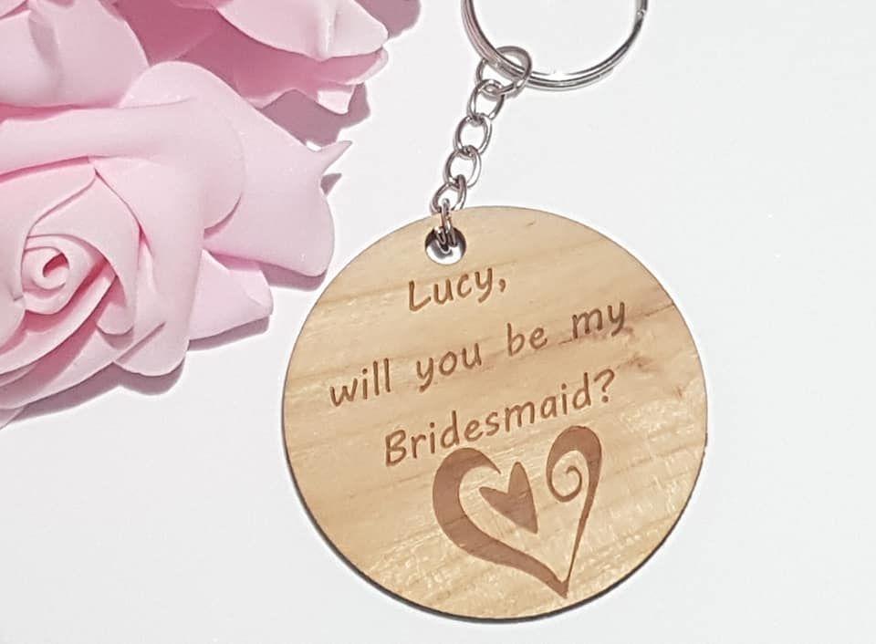 Personalised Bridesmaid Proposal Keyring