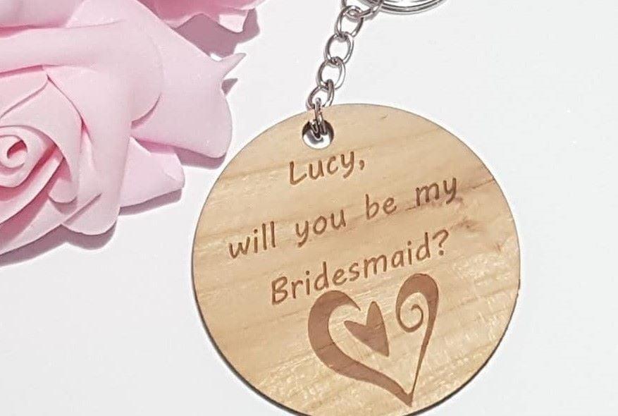 Bridesmaid Proposal Keyrings