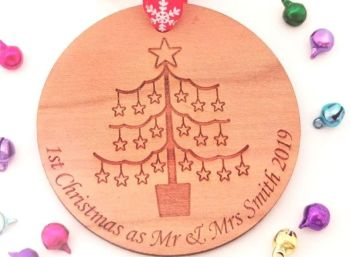 Personalised 1st Christmas As Mr & Mrs Bauble