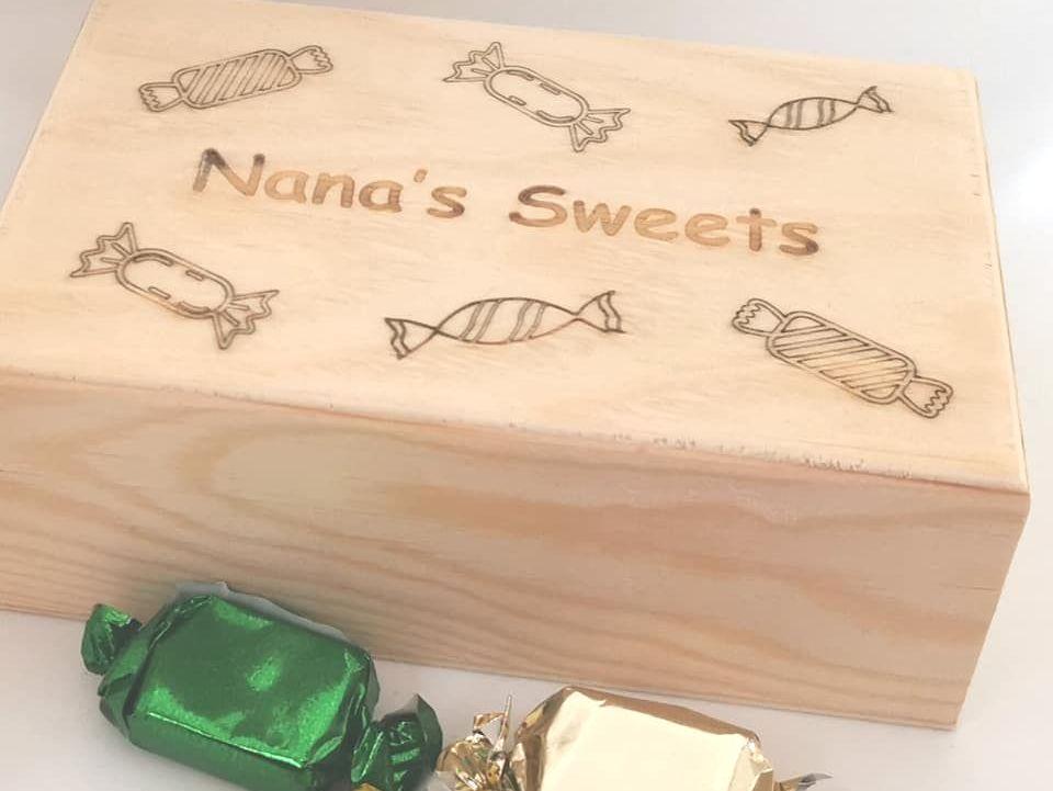 Nana's Wooden Sweet Box