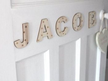 Children's Wooden Door Letters.