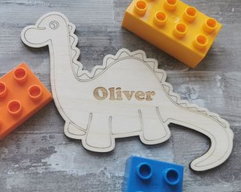 Personalised Dinosaur Children's Door Sign
