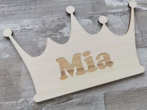Personalised Children's Tiara Bedroom Door Sign