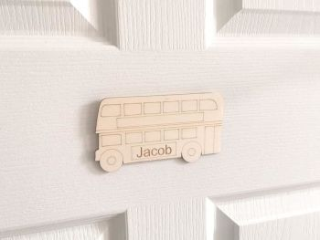 Children's Personalised Bus Door Plaque