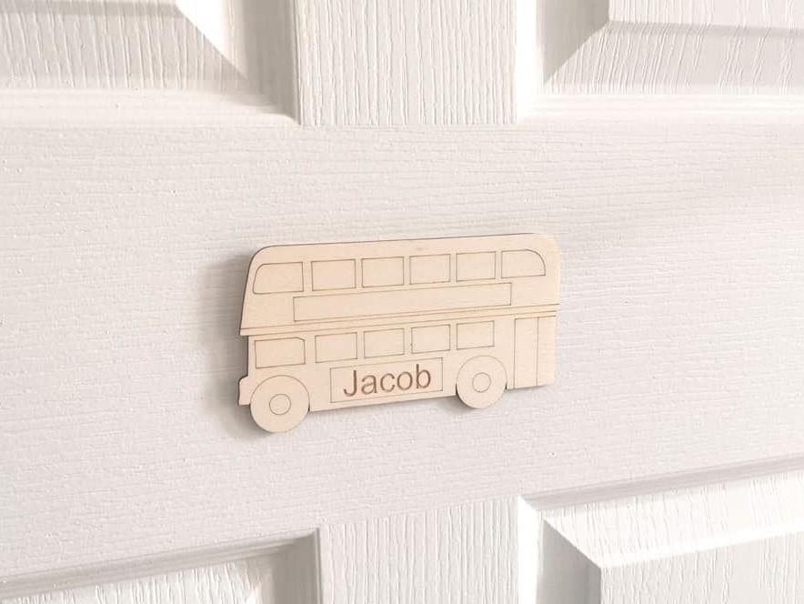 Children's Personalised Bus Door Plaque
