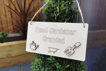 Personalised Hanging Garden Sign