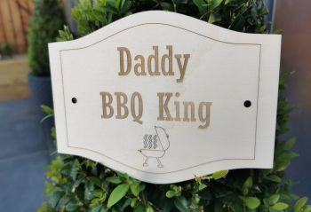 Personalised BBQ King Sign