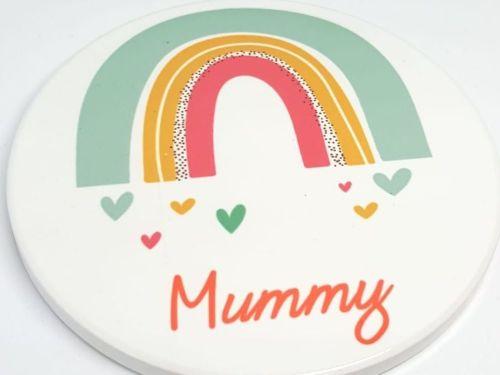 Personalised Rainbow Ceramic Coaster
