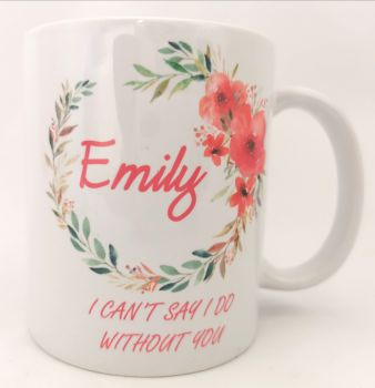 Personalised Floral Proposal Cup