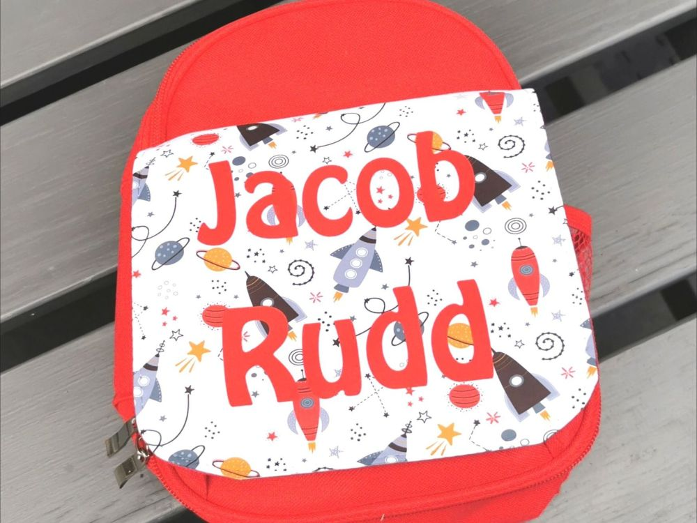 Personalised Children's Space Lunch Bag