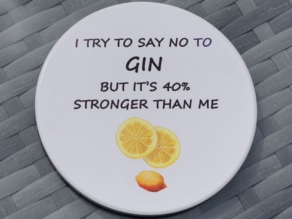 Fun Ceramic Gin Coaster