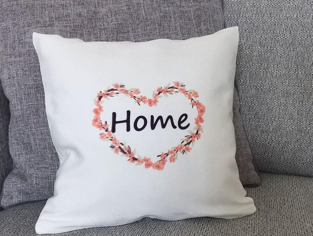 Blossom Heart Home Cushion Cover