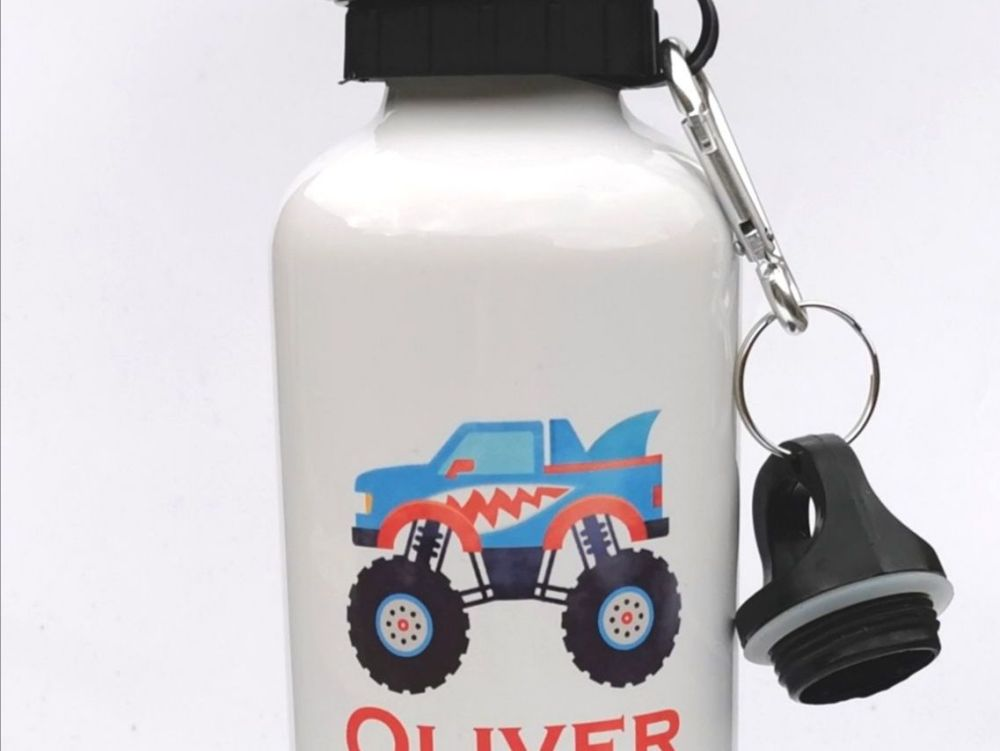 Personalised Monster Truck Water Bottle