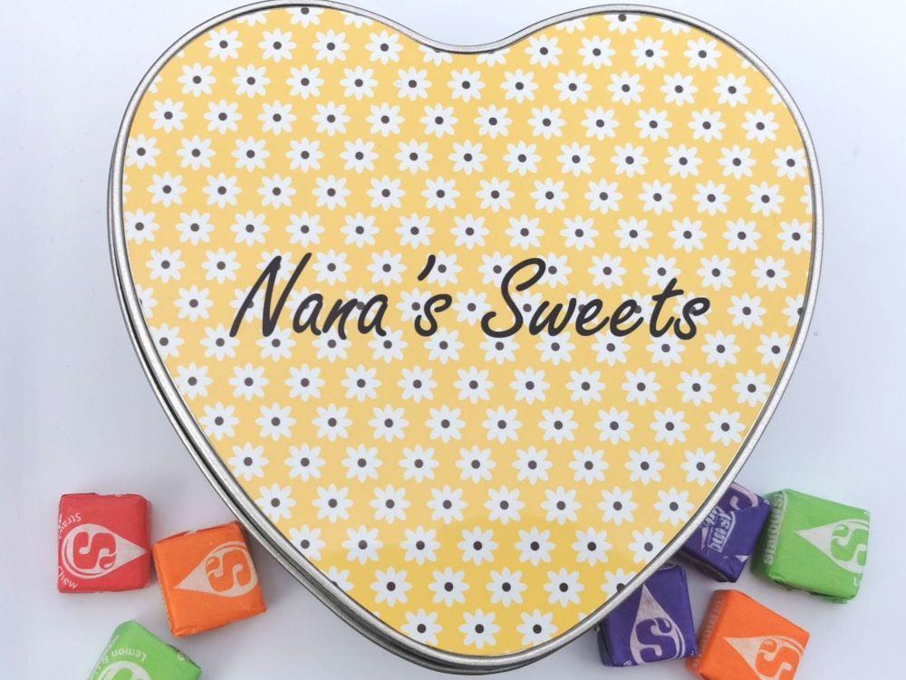 Personalised Heart Sweet Tin