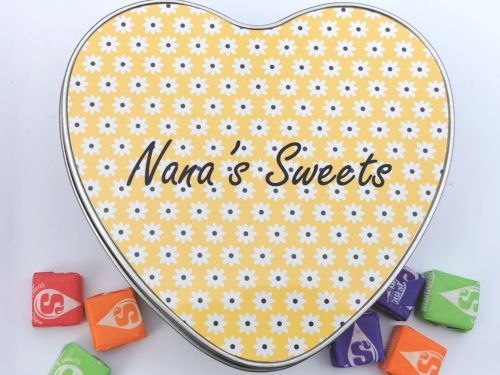 Personalised Heart Sweet Tin