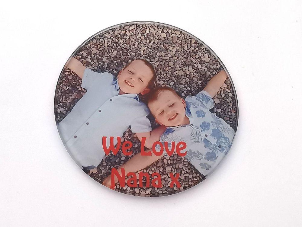 Personalised Photo Glass Coaster