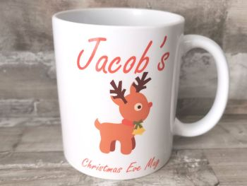Personalised Christmas Eve Rudolf Mug