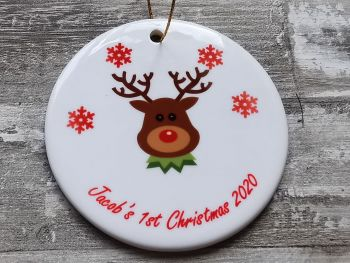 Personalised First Christmas Decoration