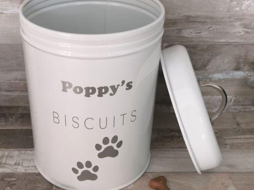 Large Personalised Pet Biscuit Tin
