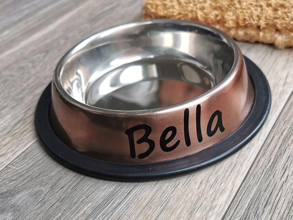 Personalised Non Slip Small Pet Bowl