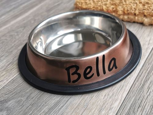 Personalised Non Slip Small Pet Bowl