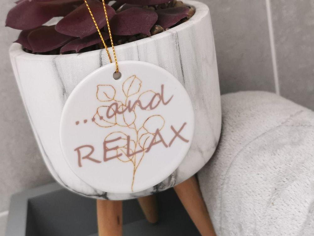 Relax Ceramic Hanging Sign