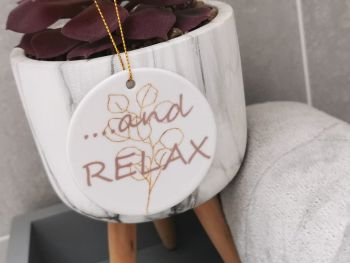 Relax Ceramic Hanging Sign