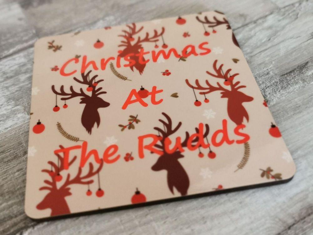 Personalised Christmas Coaster Set Of 4