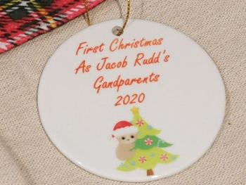 Personalised New Grandparents Christmas Decoration