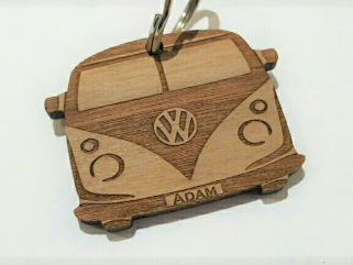 Personalised Camper Van Style Keyring, Ideal Gift