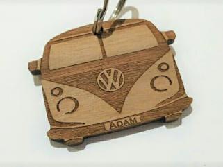 Personalised Camper Van Style Keyring, Ideal Gift