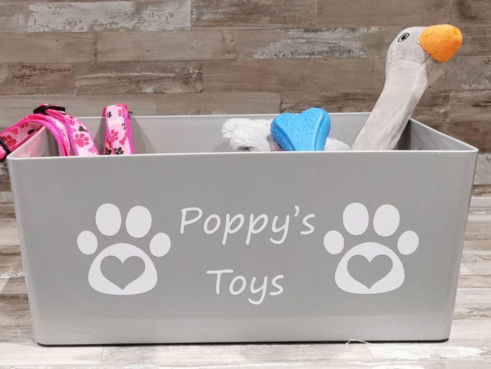 Large Personalised Pet Toy Box