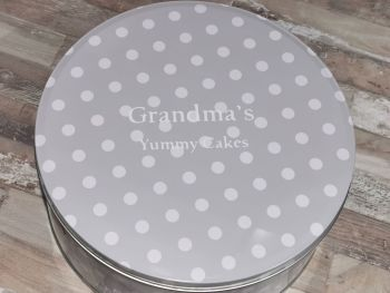 Personalised Polka Dot Cake Tin