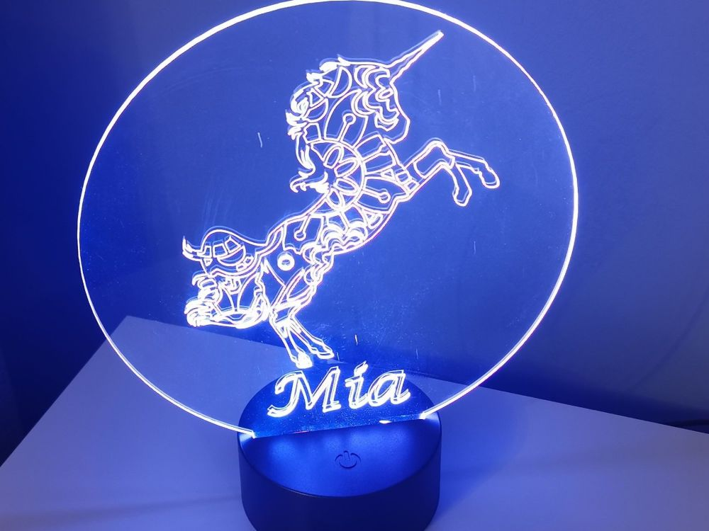 Personalised LED Unicorn Light