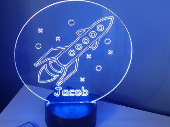 Personalised LED Space Rocket Design