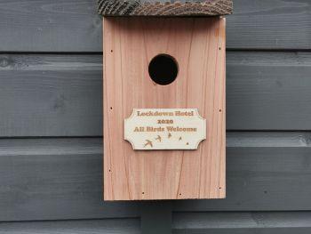 Personalised Bird Nesting Box