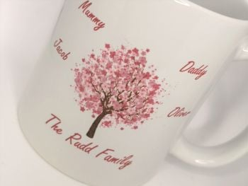 Personalised Family Tree Cup