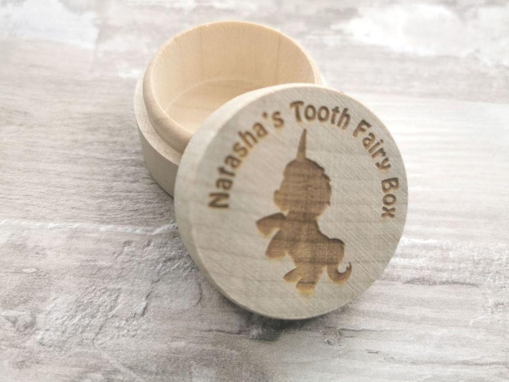 Personalised Unicorn Tooth Fairy Box