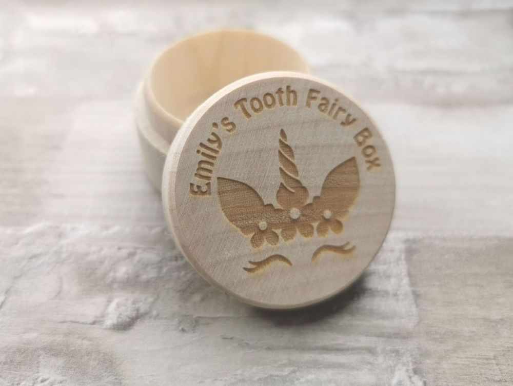 Personalised Unicorn Face Tooth Fairy Box