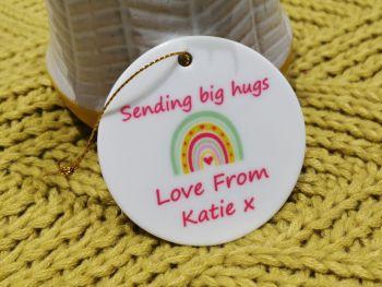 Sending  Big Hugs Ceramic Sign