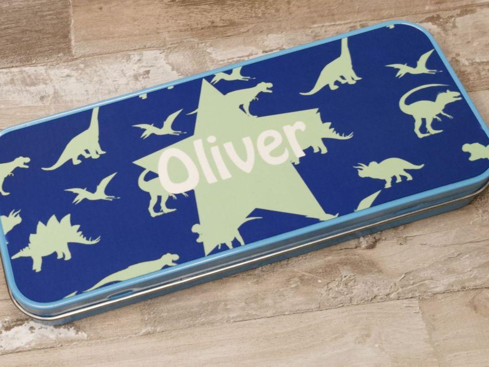 Personalised Dinosaur Pencil Case