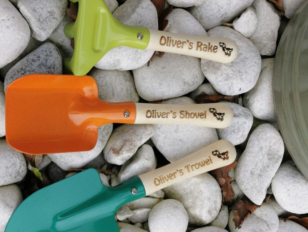Personalised Children's Garden Tool Set