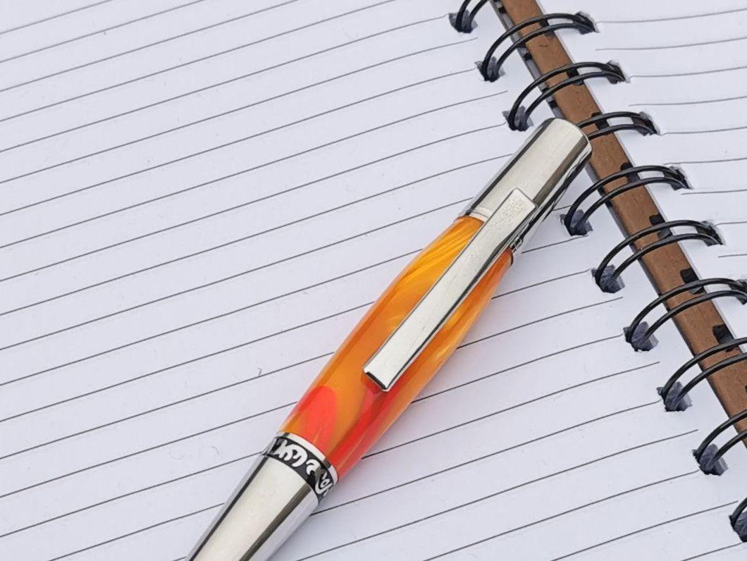 Zeta Orange Ballpoint Pen