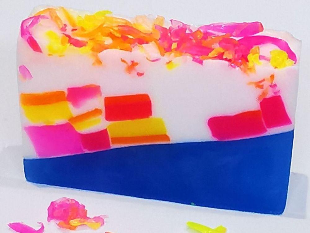 Violet Sparkle Shimmer Soap Bar