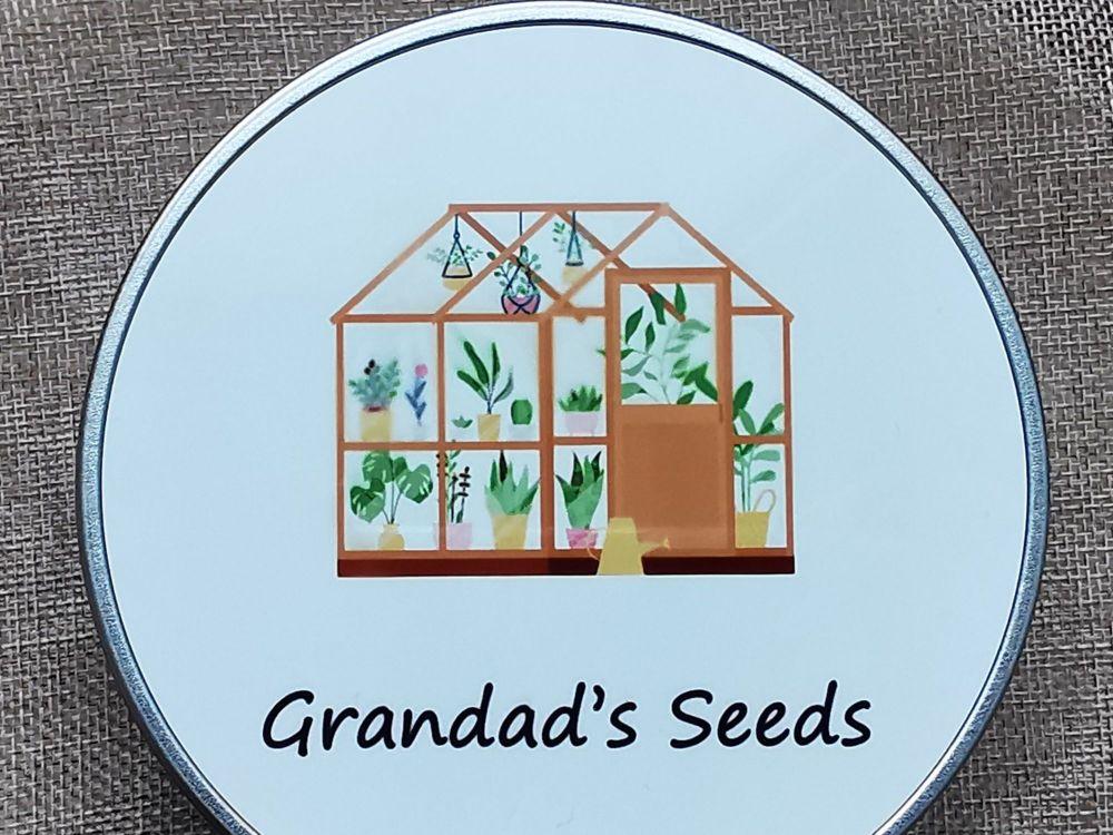 Grandad's Seed Storage Tin