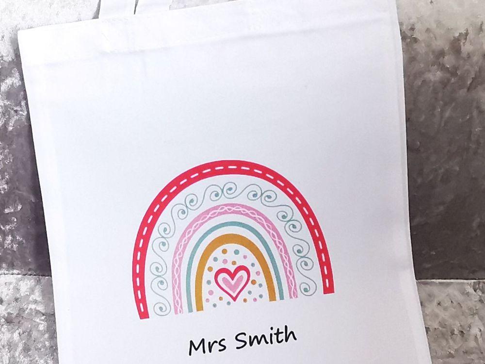 Personalised Rainbow Reusable Bag